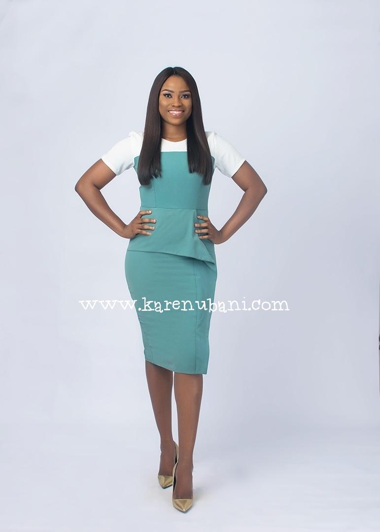 e379f345da Mint Green Peplum Detail Dress - Karen Ubani Apparel
