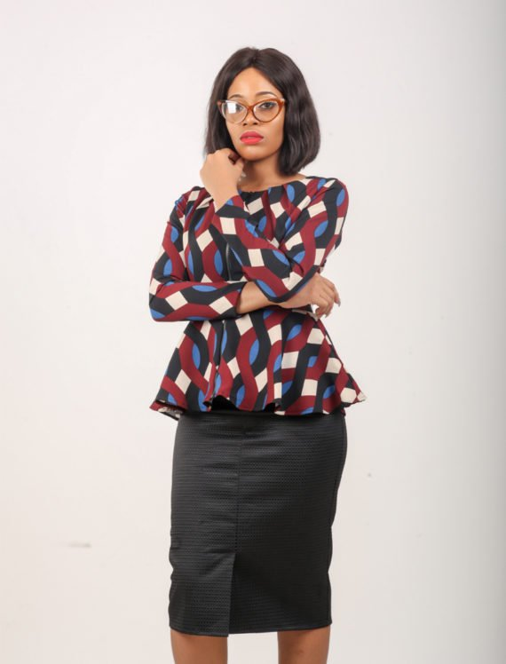 The Multi Print Peplum Jacket 1