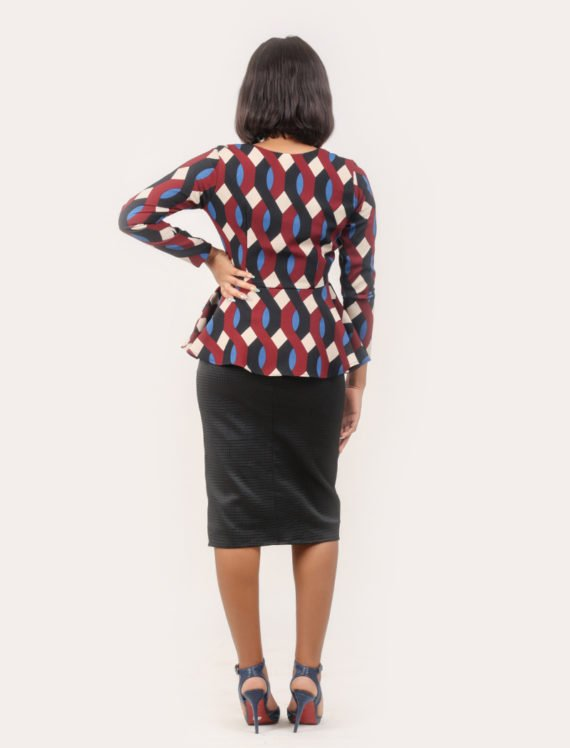 The Multi Print Peplum Jacket 2