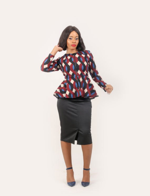 The Multi Print Peplum Jacket 3