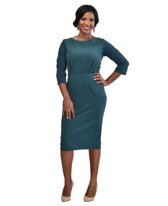 The Deluxe Green Pencil Dress 2