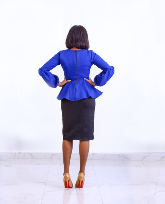 The Jessica blue peplum jacket 3