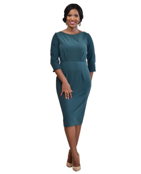The Deluxe Green Pencil Dress 1