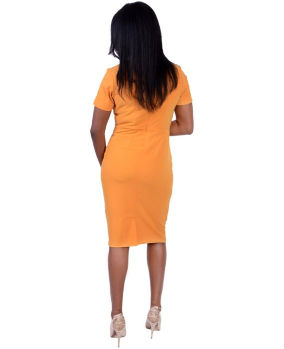 The Butterscotch Yellow Pencil Dress 4