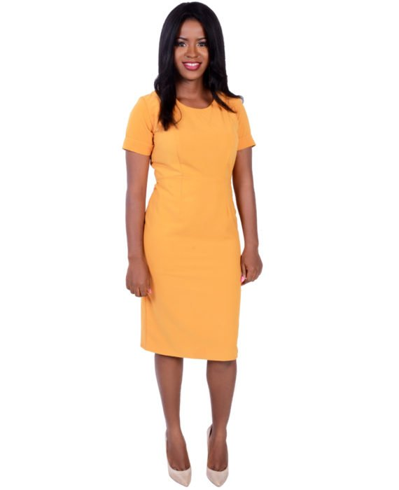 The Butterscotch Yellow Pencil Dress 1