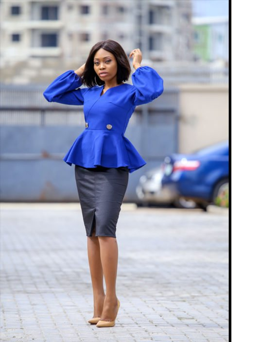 The Jessica blue peplum jacket 4