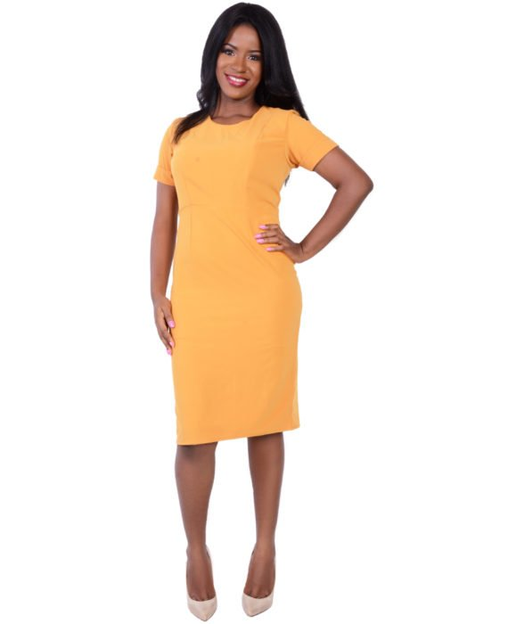 The Butterscotch Yellow Pencil Dress 3