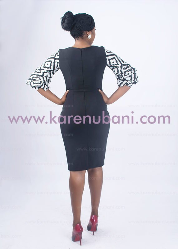 Black Dress With Monochrome Inserts 3