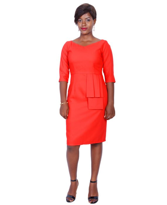 The Rome Peplum Dress(Red) 1