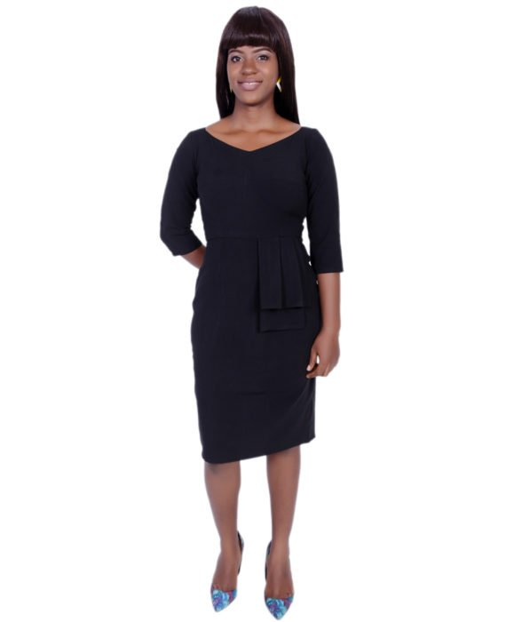 The Rome Peplum Dress( Black) 1