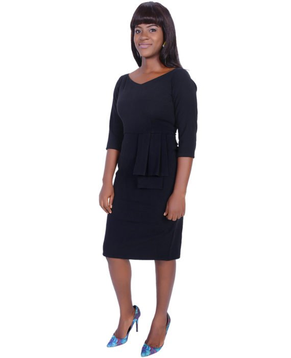 The Rome Peplum Dress( Black) 3