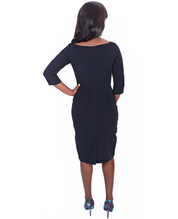 The Rome Peplum Dress( Black) 4