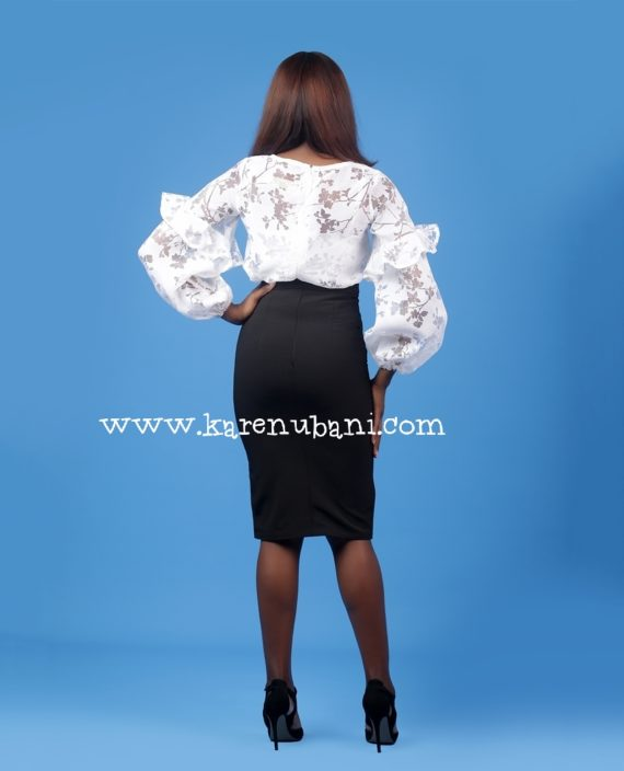 Black Button Detailed Skirt 3