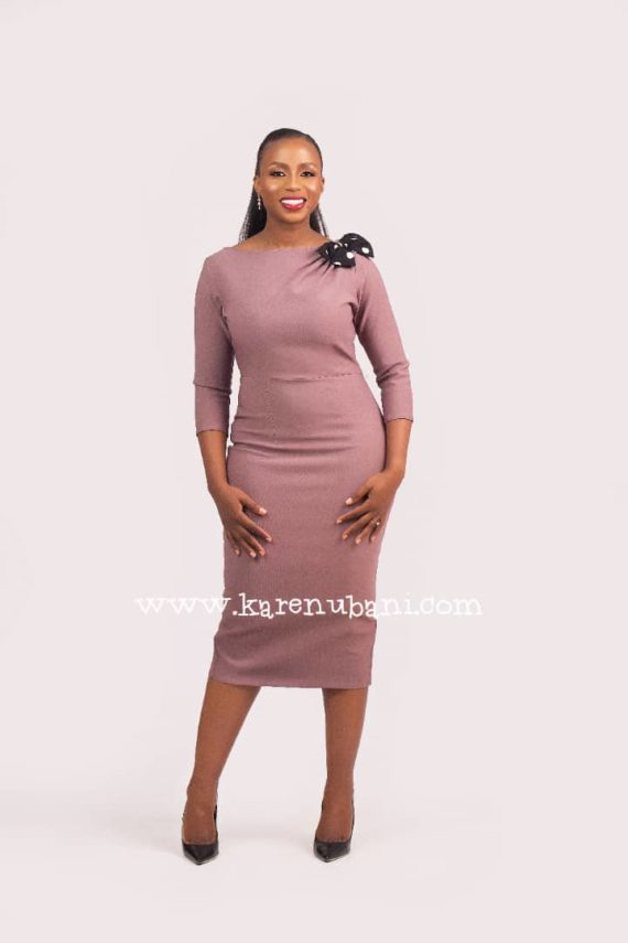 Cadillac Dress In Mauve 4