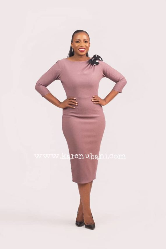 Cadillac Dress In Mauve 1