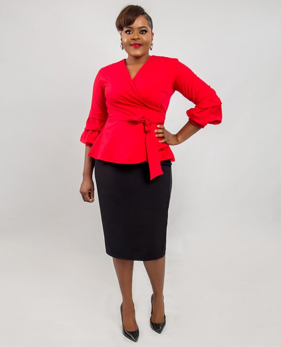 Cruze Red Trendy Sleeve Jacket 1