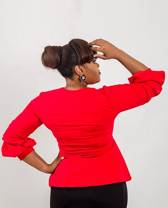 Cruze Red Trendy Sleeve Jacket 4