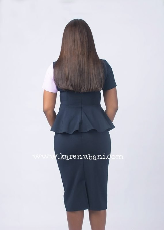 The Jennifer 2 piece Suit (navy and lilac) 5