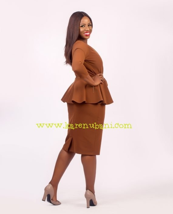 Brown Two Piece With Princess Darts 2