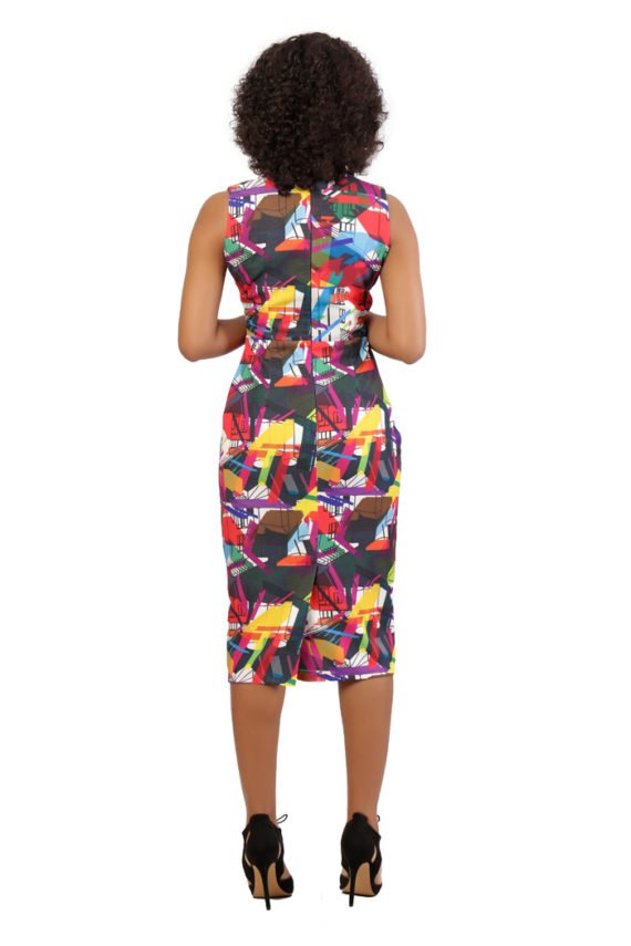 The Michelle Sleeveless Print Dress 3