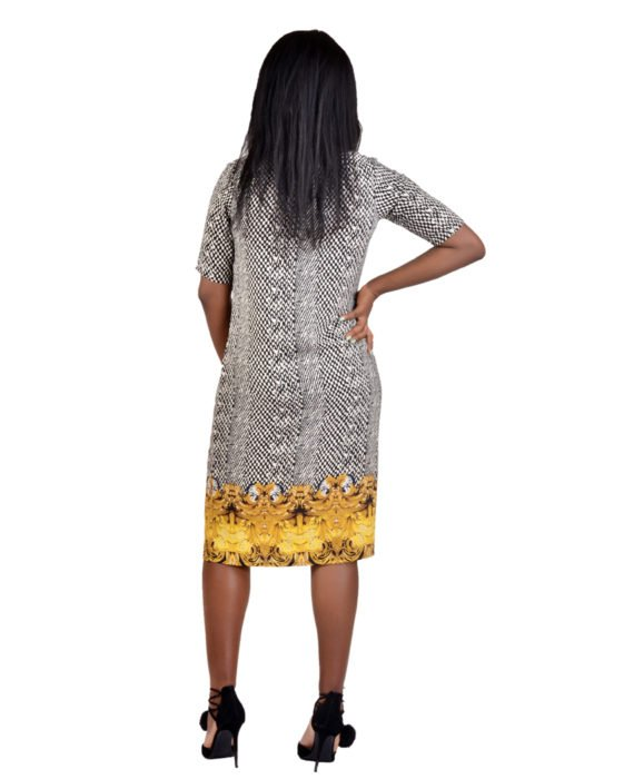 Oriental Print Shift Dress 4
