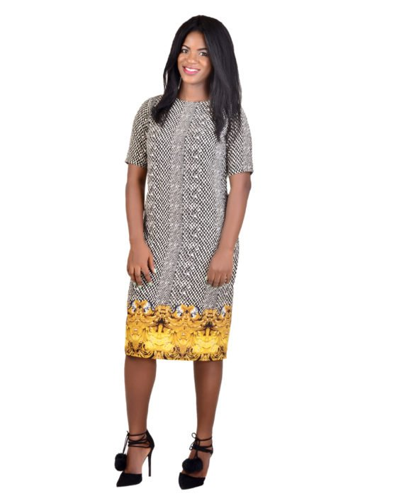 Oriental Print Shift Dress 2