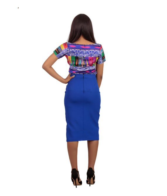 Electric Blue Pencil Skirt 3