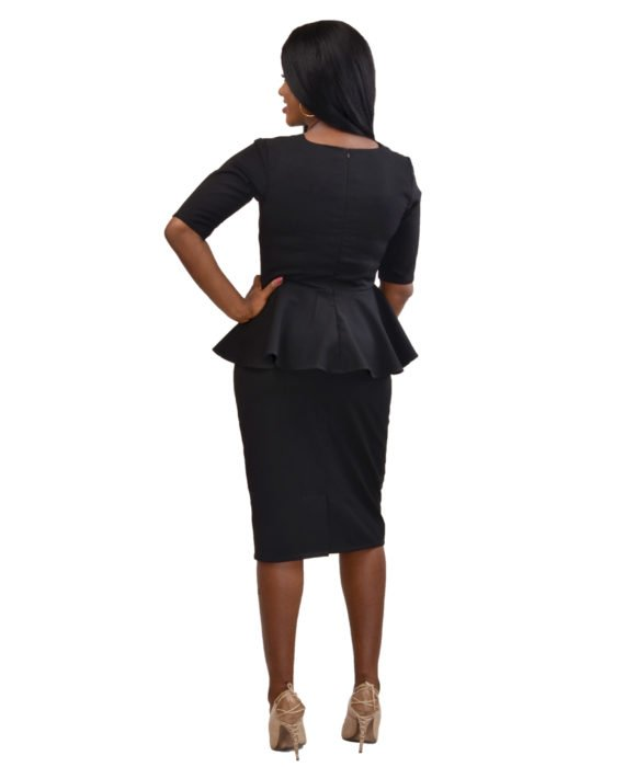 Black Two Piece Skirt Suit 3