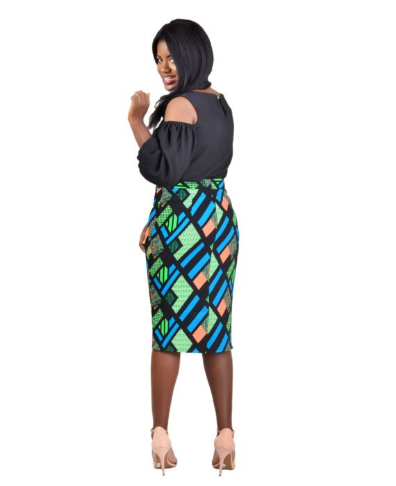 KUA Multicoloured Pencil Skirt 3