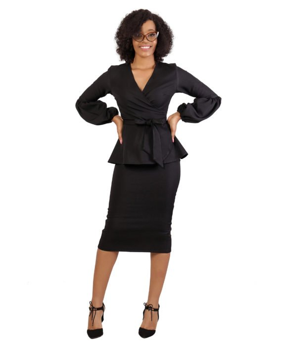 The Black KUA Bubble Sleeve Suit 4