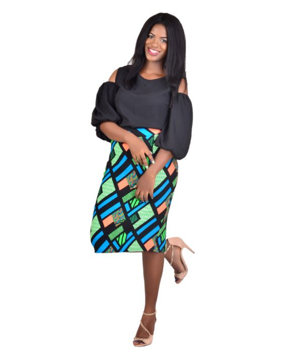 KUA Multicoloured Pencil Skirt 4