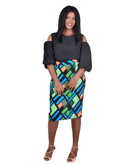 KUA Multicoloured Pencil Skirt 1
