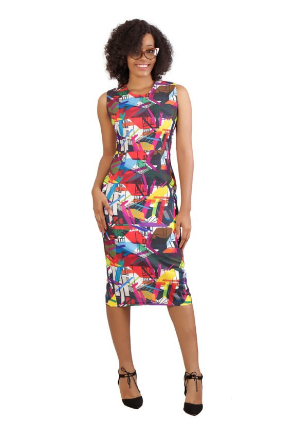 The Michelle Sleeveless Print Dress 1