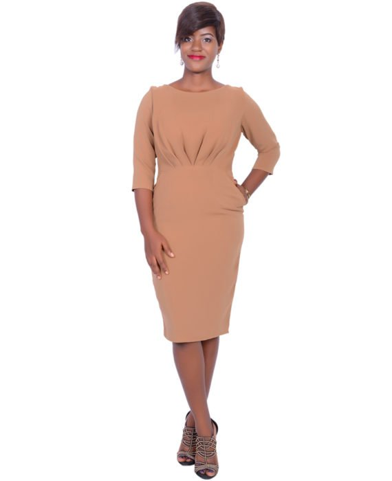 The Statement Nude Colour Dress 1
