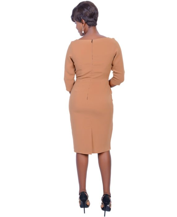 The Statement Nude Colour Dress 3