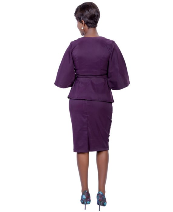Oprah Skirt Suit (Purple) 3