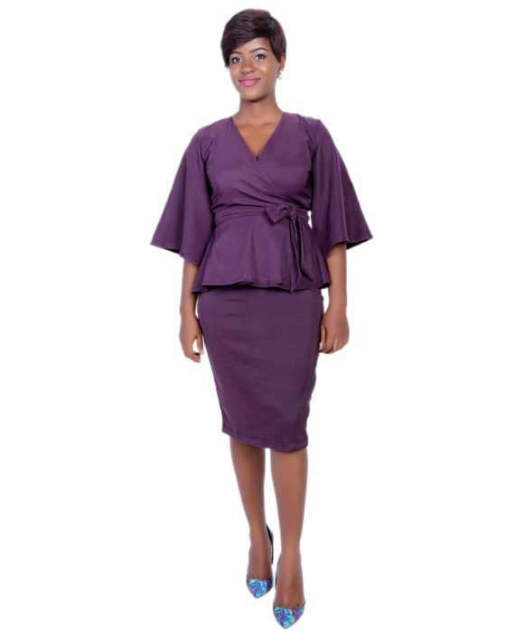 Oprah Skirt Suit (Purple) 1