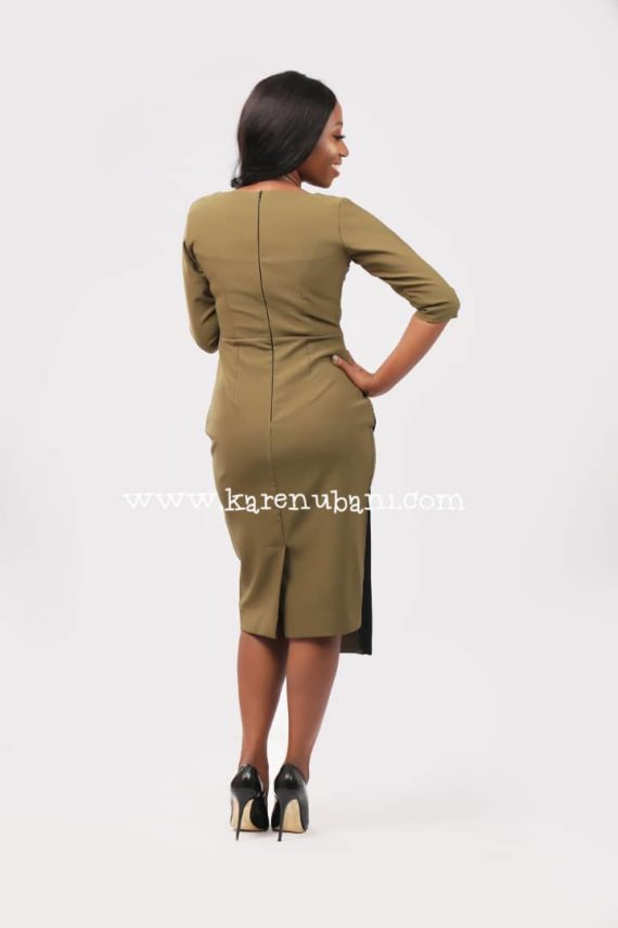 The Flotus Dress In Olive 4