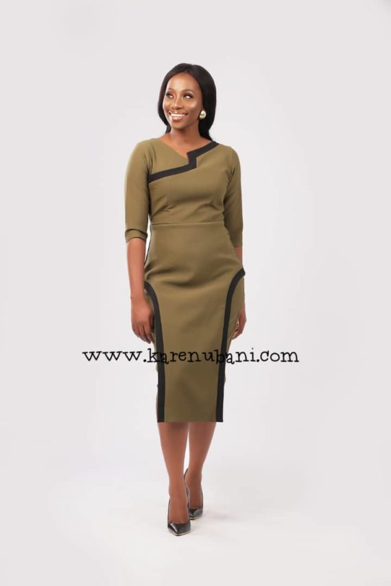 The Flotus Dress In Olive 3