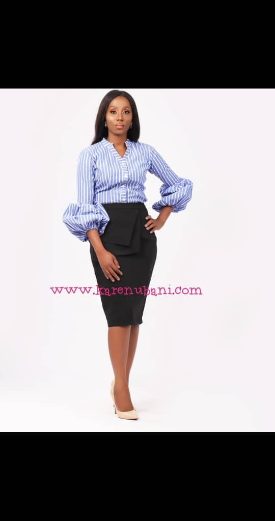 The Chic Shirt In Blue Stripes 2
