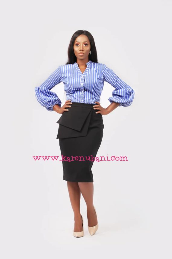 The Chic Shirt In Blue Stripes 1