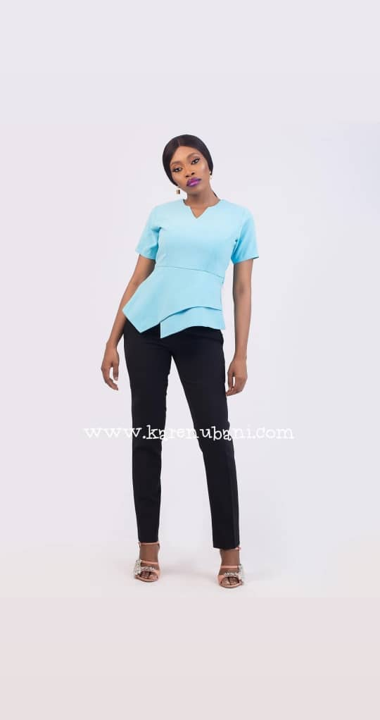 Veronica Blouse In Powdered Blue 1