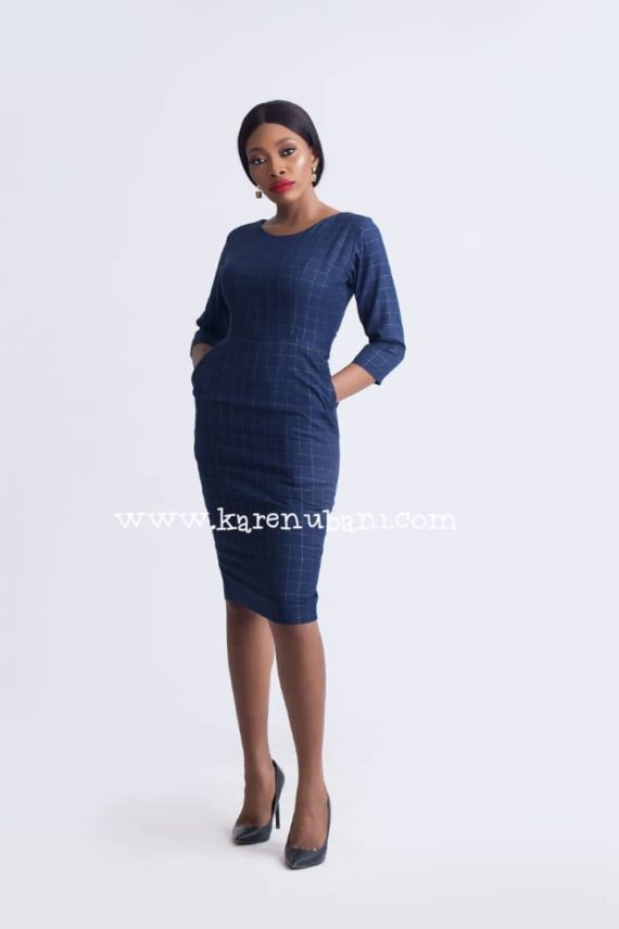 Irene Dress In Wool - Cotton Mix Print 2
