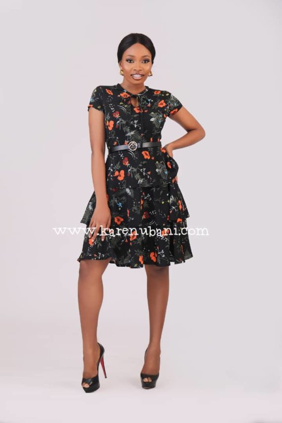 Three Tier Floral Dress 1