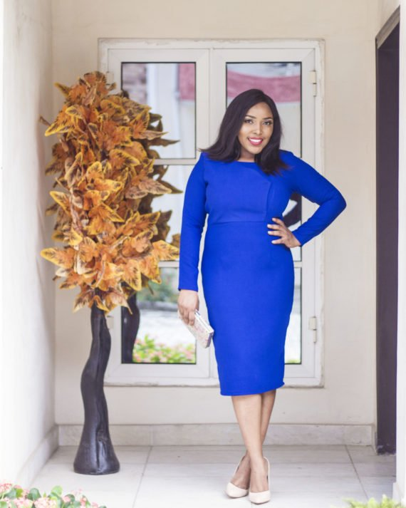 Royal Blue Midi Dress 1