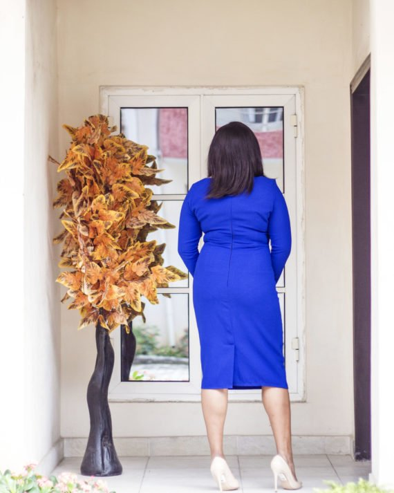 Royal Blue Midi Dress 3