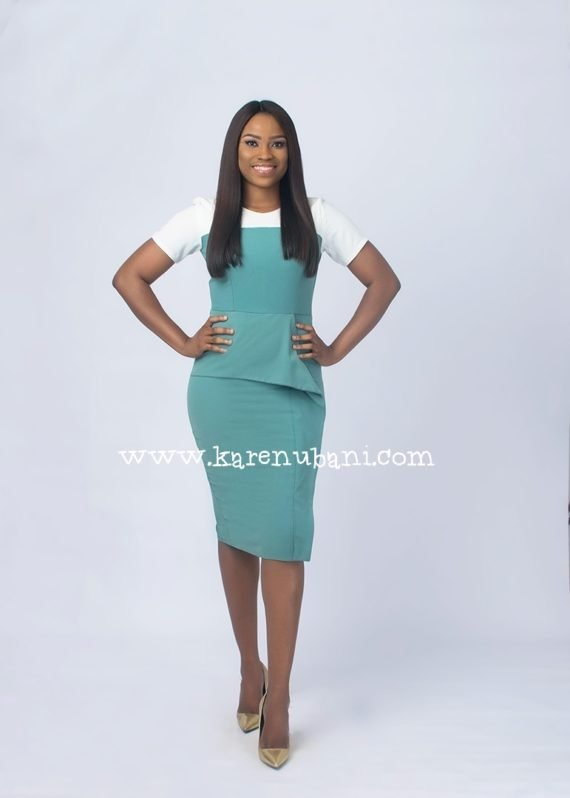 Mint Green Peplum Detail Dress 1
