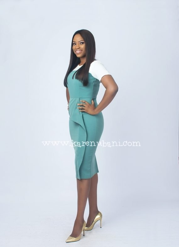Mint Green Peplum Detail Dress 3