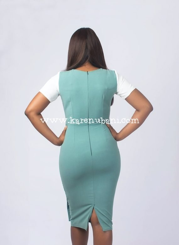 Mint Green Peplum Detail Dress 4