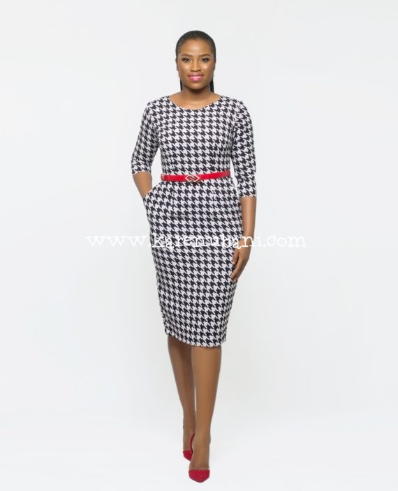 Irene Dress In Houndstooth 1